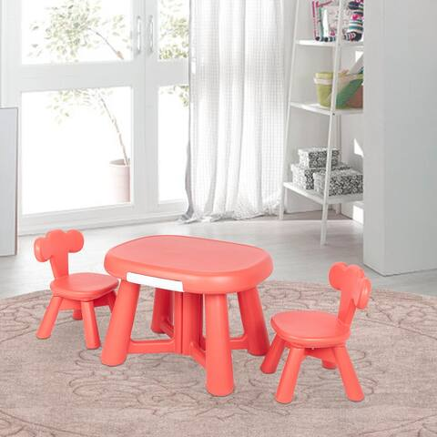 Kids Furniture Baby Elephant Shape Table and 2 Chair Set