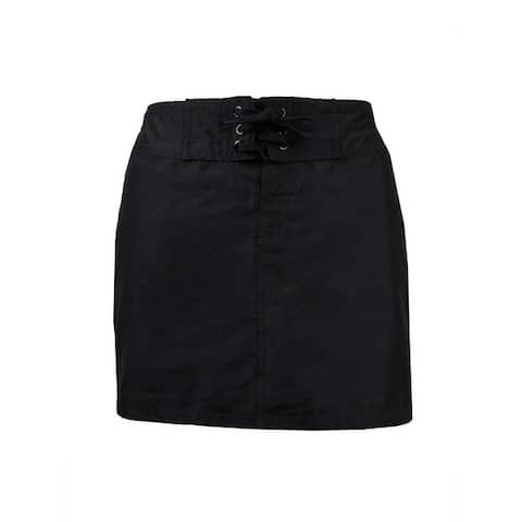 Island Escape Women's Mini Board Skirt Swim Cover - Black