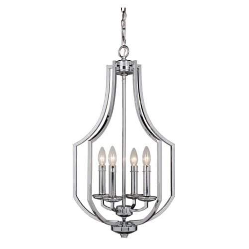 "Jeremiah Lighting 40034 Hayden 4 Light 16"" Wide Single Tier Cage Chandelier"