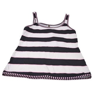 Tommy Bahama Women's Navy Blue with Pink/White Stripe Small Tank Swim Top