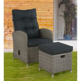 Link to Monaco All-Weather Wicker Outdoor Recliner and Ottoman Similar Items in Outdoor Sofas, Chairs & Sectionals