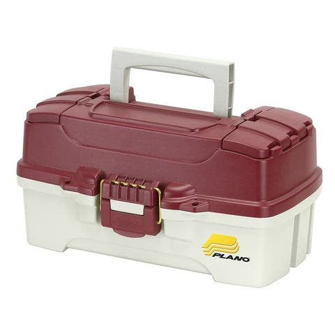 Frabill 620106 plano one-tray red tackle box - red metallic/off-white