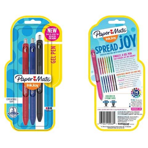 Paper Mate InkJoy Gel Pen, 0.7 mm, Assorted, Set of 3