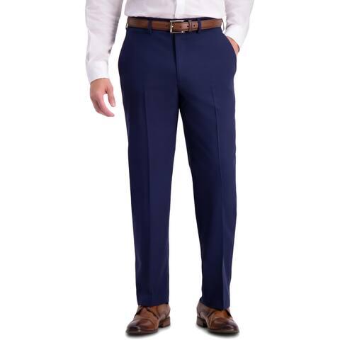 Haggar Mens Dress Pants Wrinkle Resistant Classic Fit - Navy - 42/32