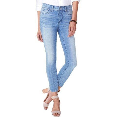 NYDJ Womens Ankle Jeans Tummy Control Whisker Wash