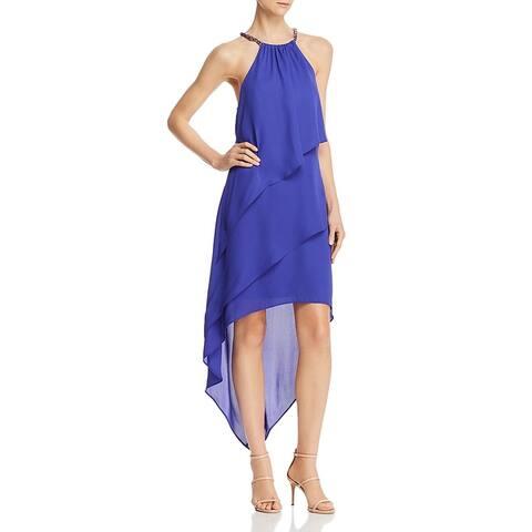 Laundry by Shelli Segal Womens Formal Dress Halter Hi-Low - Blue Violet