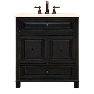 """Sunny Wood BH3021D Barton Hill 30"""" Wood Vanity Cabinet Only"""