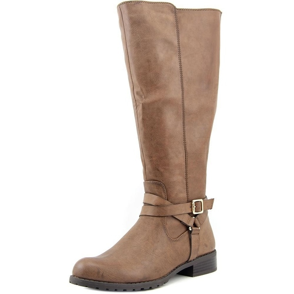 Style & Co Brigyte Wide Calf Women Brown Boots