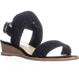 Vince Camuto Raner Braided Wedge Sandals, Black - 9 us / 39 eu
