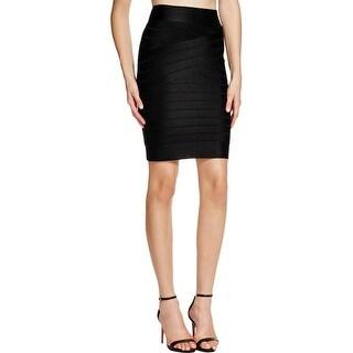 French Connection Womens Spotlight Bandage Skirt Knee-Length Striped