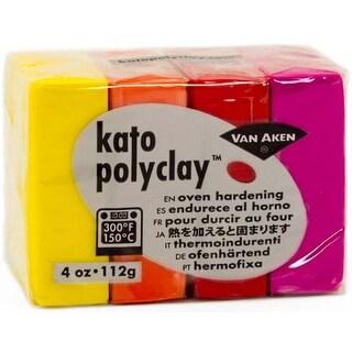 Warm-Yellow; Orange; Red & Magenta - Kato Polyclay 2Oz 4-Color Set