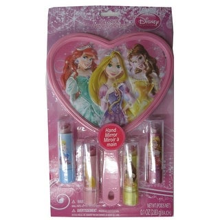 Princesses Girls Lip Disney Character Lip Balm Hand Mirror Set