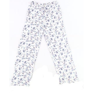 Nuit Rouge NEW White Womens Size Small S Elephant Print Lounge Pants