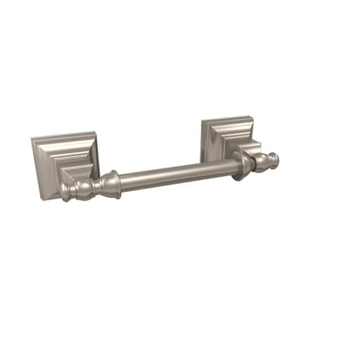 Markham Pivoting Double Post Tissue Roll Holder in Brushed Nickel - 6-7/8 in.