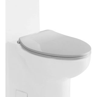 Eago R-377SEAT Elongated Closed-Front Toilet Seat with Soft Close Hinges - White - N/A