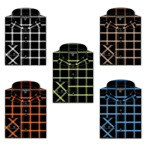Men's Check Pattern Fancy Shirt