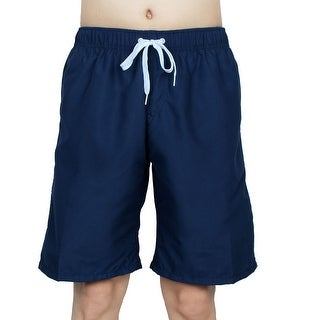 Chetstyle Authorized Adult Men Summer Swimming Shorts Swim Trunks Navy Blue W 34