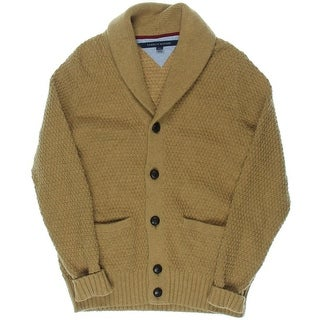Tommy Hilfiger Mens Shawl Collar Long Sleeves Cardigan Sweater