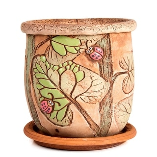 """Link to STP-Goods 5.9"""" Ladybugs Ceramic Flower Pot Planter Similar Items in Planters, Hangers & Stands"""