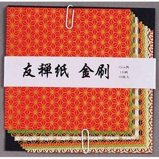 Aitoh - Yuzen Kinzure Origami Paper