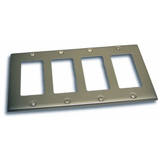 "Residential Essentials 10843 4.5"" X 8.25"" Quadruple Rocker Switch Plate Featuring a Rustic / Country Theme - N/A"