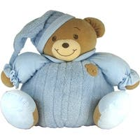 Baby Bow Huge Goodnight Stuffed Teddy Bear in Blue
