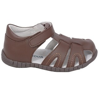 L'Amour Brown Fisherman Closed Heel Sandals Baby Boy 4-Toddler Boy 10