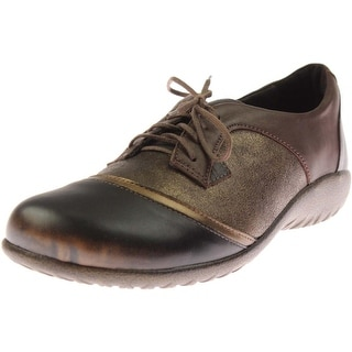 Naot Womens Harore Leather Lace Up Oxfords - 39 medium (b,m)