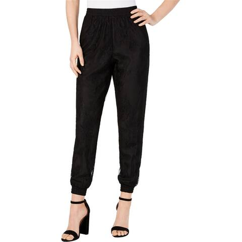 Leyden Womens Lace Casual Jogger Pants