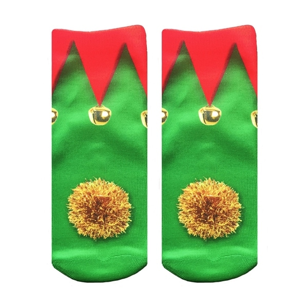 Unisex Elf Shoes Ankle Socks - Green