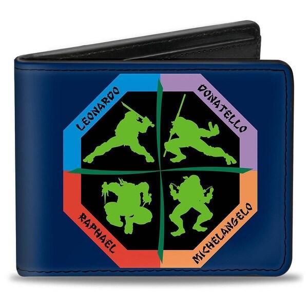 Turtle Octagon Poses + Teenage Mutant Ninja Turtles Bi Fold Wallet - One Size Fits most