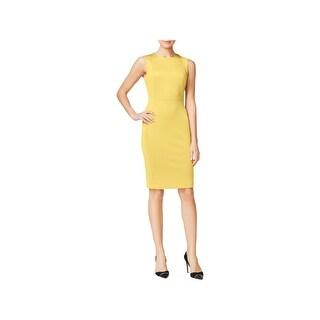 Calvin Klein Womens Petites Cocktail Dress Crepe Sleeveless