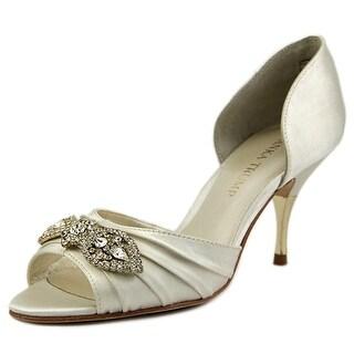 Ivanka Trump Nanci2 Women Peep-Toe Canvas White Heels