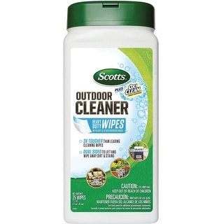 Scotts 51601 Plus Oxi Clean Outdoor Furniture Cleaner Wipes, 25 Count