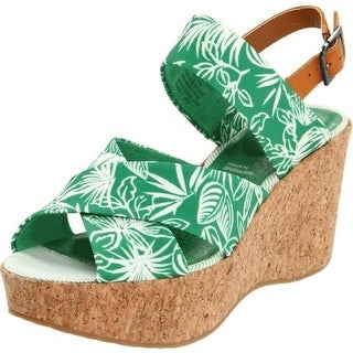 Rockport Womens Wedges Textured Printed - 10.5 medium (b,m)