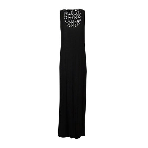 Kenneth Cole REACTION Women's Crochet-Back Maxi Swimsuit Cover