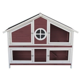 Link to Merax Wooden Rabbit Hutch Chicken Coop Small Animal Cage Pet House Similar Items in Small Animal Cages & Habitats