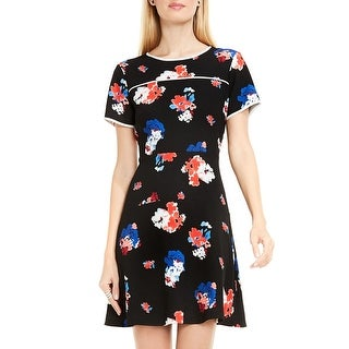 Vince Camuto Womens Casual Dress Crepe Floral Print