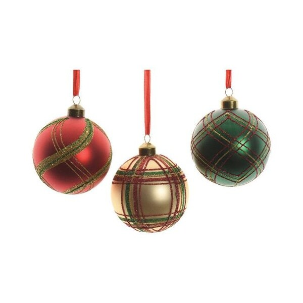 Decoris Glass Christmas Ornament Multi-Color- pack of 12 - Shop Decoris Glass Christmas Ornament Multi-Color- Pack Of 12 - Free