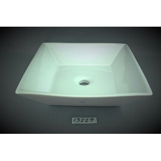 Bathroom Vessel Sink Square White Porcelain | Renovator's Supply