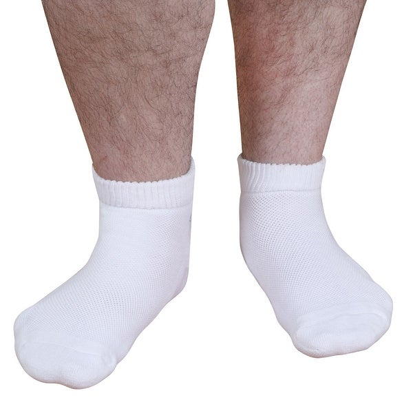 Unisex Adult CareSox Supreme Low Cut Bariatric Socks - White