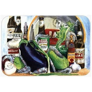 Carolines Treasures 1007CMT 30 x 20 in. Eggplant and   Orleans Beers Kitchen Or Bath Mat