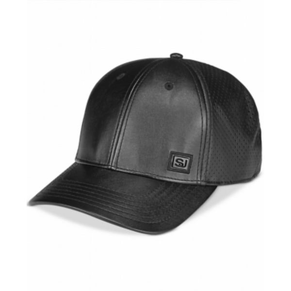 919294ea20b Shop Sean John NEW Black Men s One Size Adjustable Faux Leather Baseball Cap  202 - Free Shipping On Orders Over  45 - Overstock.com - 20232696