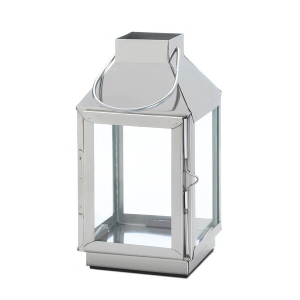 Tribeca Steel Candle Lantern - Silver