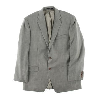 Lauren Ralph Lauren Mens Silk Pattern Two-Button Blazer - 42