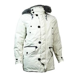 Nautica Men's Removable Faux-Fur Jacket (L, Silver Birch) - L