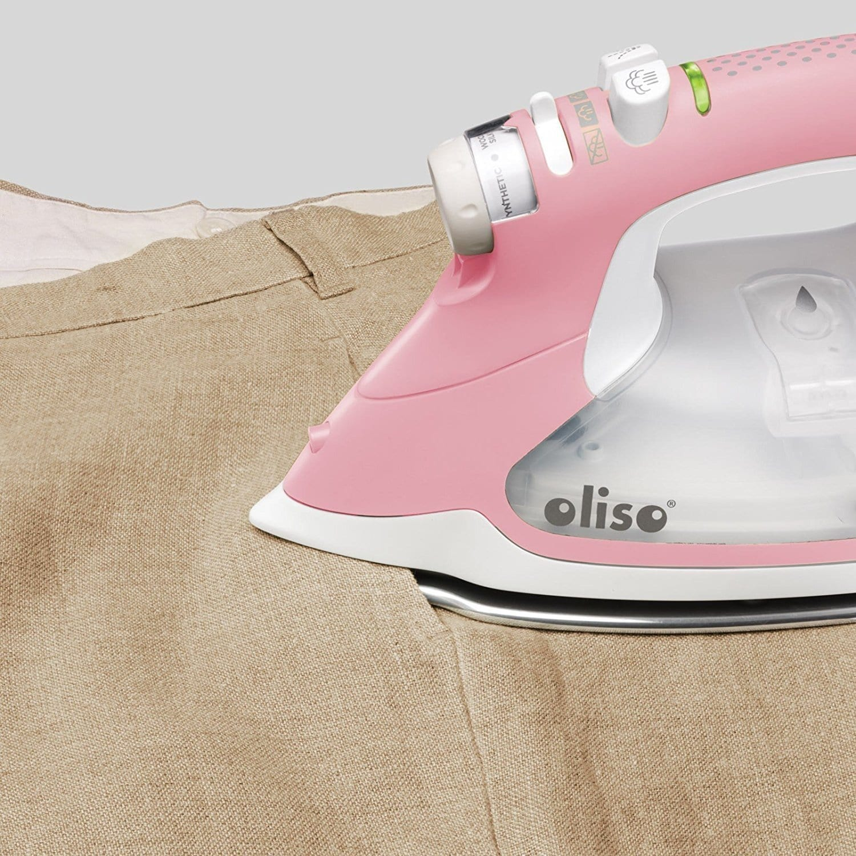 Oliso Smart Steam Iron Press TG1600 Pro 1800W w// iTouch Technology Pink NEW