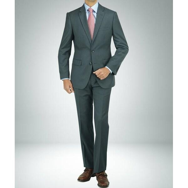 Carlo Studio Grey Pinstripe Modern-Fit Suit. Opens flyout.
