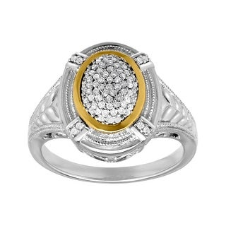 1/4 ct Diamond Ring in Sterling Silver and 14K Gold