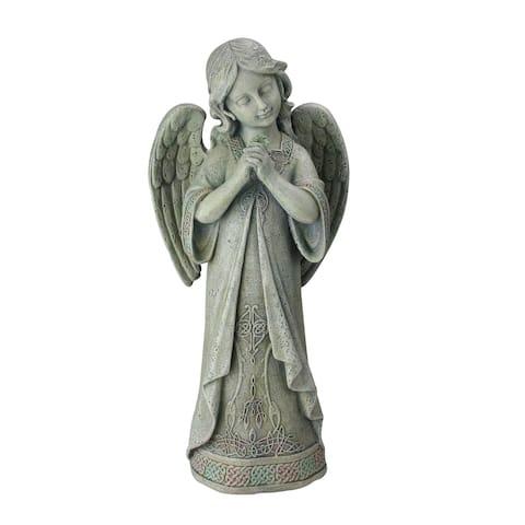 "16"" Joseph's Studio Praying Celtic Irish Angel Outdoor Garden Statue - N/A"